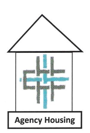[Logo: Agency Housing at the Ecumenical Community Center] the Ecumenical Community Center Crosshatch Logo under a roof